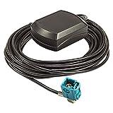 tomzz Audio 1100-003 GPS Antenne Fakra Stecker Innenmontage Magnet 5m Kabel für Audi Mercedes VW Blaupunkt