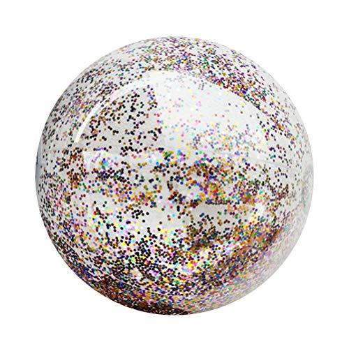 LIOOBO Transparente Pailletten Aufblasbare Ball Sommer Wasser Pool Spielen Wasserball Strand Party Favor 16 Zoll (Aufblasbare Strand Bälle)