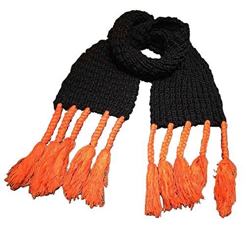 Tokkids - Sciarpe del cotone invernale per bambini e bambine (Nero)