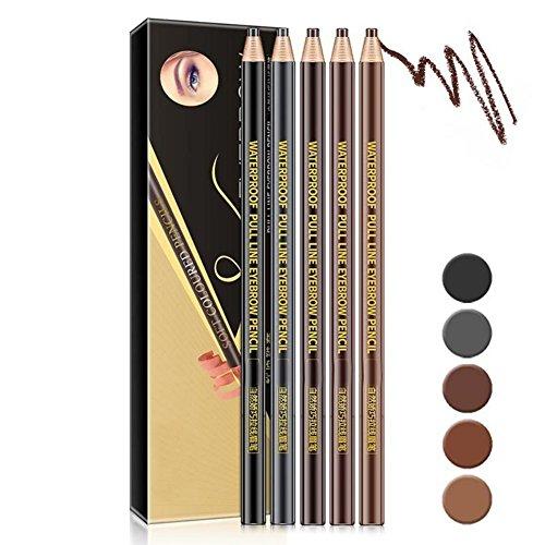 Allbesta 5 Stück Make-up Augenbrauenstift Wasserfest Microblading Augenbrauenfarben Enhancer Tint Tatto Pencil
