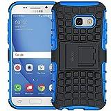 ykooe Galaxy A3 2017 Hülle, (TPU Series) Samsung Galaxy A3 (2017) Dual Layer Hybrid Handyhülle Drop Resistance Handys Schutz Hülle mit Ständer für Samsung Galaxy A3 2017 - Blau (4,7 Zoll)