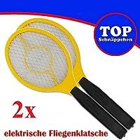 Trango 2er Pack Fliegenklatsche Fliegenfänger Mücken eléctricos
