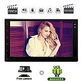 """Android 6.0 estéreo del coche para Universal 2 Din 7"""" pantalla táctil capacitiva Quad Core 1 GB de RAM + 16 GB ROM Soporte WiFi 3G 4G OBD2 1080P USB SD AUX AM FM RDS pantalla del espejo GPS Bluetooth con la cámara trasera gratuito"""