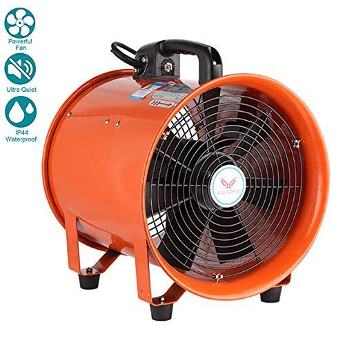 ZQYR Extractor Fans@ 10 Inches / 250mm Portable Industrie Ventilator Axiallüfter Werkstatt Abzugshaube, Luftmenge: 55m³ / h, Frequenz: 60Hz, Drehzahl 2800 R/min, 350W