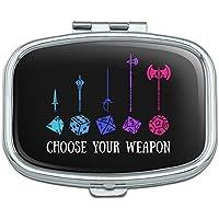 Choose Your Weapon Dungeon RPG Würfel Rechteck Pille Fall Schmuckkästchen Geschenk-Box preisvergleich bei billige-tabletten.eu
