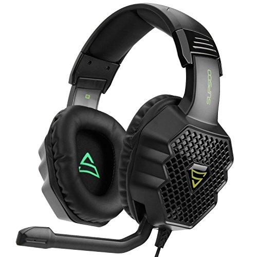 Galleria fotografica [2017 Supsoo G811 multi-piattaforma nuova Xbox One PS4 Gaming Headset] 3,5 mm cablata su ear Gaming Cuffie con microfono, basso Depp, cancellazione del rumore cuffie per PS4 nuovo Xbox One PC laptop Mac iPad