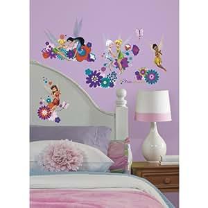 Thedecofactory RMK2588SCS Stickers Disney Fìäes Roommates Repositionnables (18 Stickers), Vinyle, Multicolore, 104 x 26 x 2.5 cm