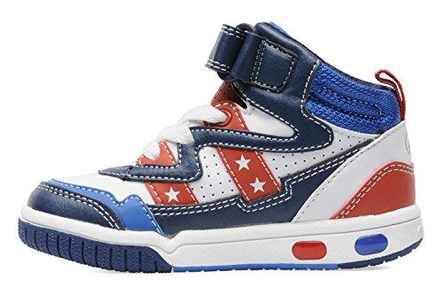 Geox , Jungen Sneaker Bianco (White/Red)