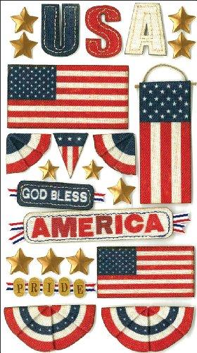 Jolee S Boutique Dimensional Stickers (Jolee 's Boutique dreidimensionale Aufkleber, Gott segne Amerika)