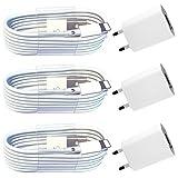 Inconnu i. Lot de 3 Blocs d'alimentation 5 V 1A + 3 câbles de Chargement USB de 1 m Compatible avec [Apple iPhone XS Max XR X 10 8 Plus 7 Plus 6S Plus 6 Plus 5S 5C 5 Se | iPad | iPod | Standard Blanc