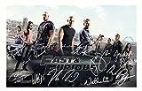Fast & Furious 7 Signiert Autogramme 21cm x 29.7cm Plakat Foto