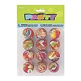 Unique Party - 45000 - Paquet de 12 Balles Rebondissantes Marbrées pour Pochettes - Cadeau...