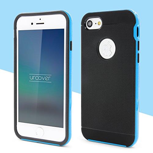 Urcover® Apple iPhone 7 Hülle | Hybrid Series | Dual Layer Kunststoff in Grün | Tasche Case Handy-Cover Schutz-Hülle Schale Hell Blau Dual Layer