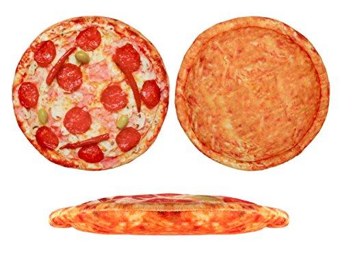 Kissen Pizza für Pizzaliebhaber in Pizzakarton Kissen Pizzaschachtel Geschenkidee 40cm Salamipizza Pizza Tomate von Alsino, Variante wählen:Ki-151 Salami