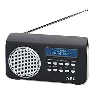 AEG 4130 - Radio DM (FM, AUX-IN), colore: Nero