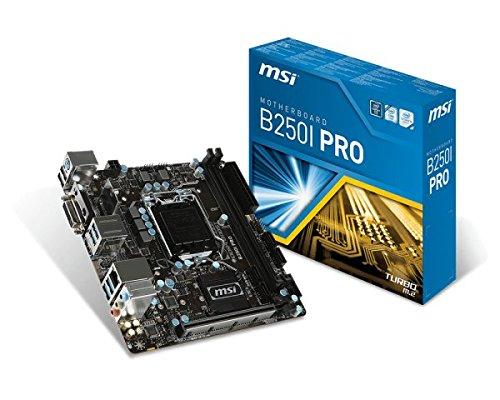 Msi Mini Itx (MSI B250I Pro LGA 1151 DDR4 HDMI,DVI 1x M.2 & 6x USB 3.1 Gen1 ITX Mainboard)