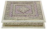 #10: Craft Zone Dry Fruit Box, Serving Tray, Decorative Platter, Beautiful Snack Box with Meenakari Work.(15 Dry Fruit Box)