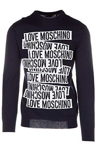 Love Moschino maglione maglia uomo girocollo blu EU M (UK 38) M S 6U3 00 X 0046 40