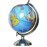 EnticeSelections Globe of the World - Educational Laminated Hand Made Globe - World Globe 8 inch - Perfect Globes for Students and Kids - Large Size Political Globe - Decorative Gift item for Men and Office