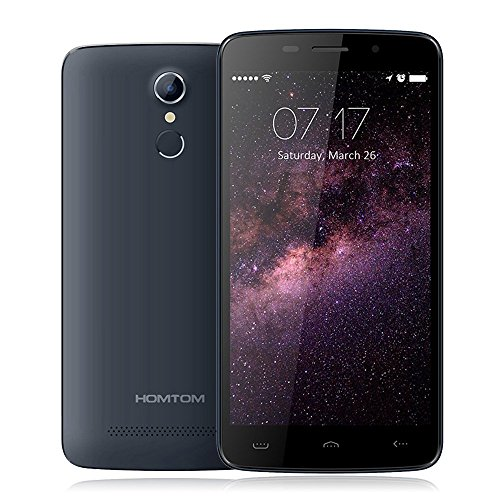 Preisvergleich Produktbild Homtom HT17 5.5 Zoll Fingerabdruck 4G Smartphone Android 6,0 Quad Core MTK6737 1,1GHz 5.0MP+13.0MP dual Kamera 1GB RAM 8GB ROM Dual SIM Handy Touch Display