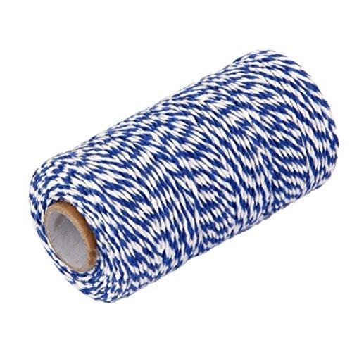 ueetek-Bäcker-Baumwolle 100m Geschenkbox Glas-Flasche Kette Kabel Bolivares für Kunst Dekoration Navy Blau