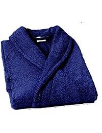 Home Basic - Albornoz con cuello tipo smoking, talla XL, color marino