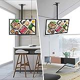 SIMBR TV Deckenhalterung Schwenkbar Neigbar VESA 600x400 an Flachdach oder Dachschrägen für LED LCD Plasma TVs von 22 bis 75 Zoll max. Tragegewicht 50kg Test