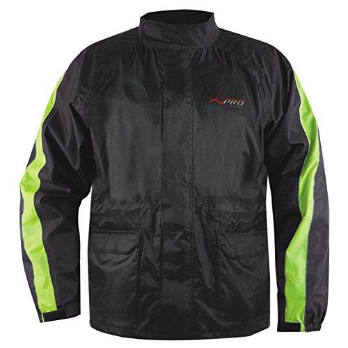 A-Pro Regen Jacke Wasserdicht ueber Jacke Motorrad Roller Sichtbarkeit Gelb Fluo M (Gelb-motorrad Regen Jacke)