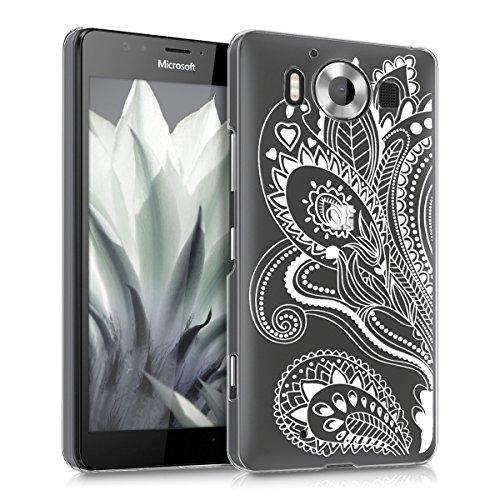 kwmobile Microsoft Lumia 950 Hülle - Handyhülle für Microsoft Lumia 950 - Handy Case in Weiß Transparent