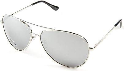 insh enterprises Unisex UV Protected Mercury Lens Aviator Style Frame Sunglasses, 51 (Silver, avinor12346)