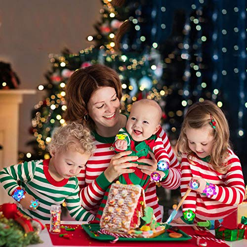 Imagen de angusiasm pulseras luminosas,favores de fiesta para niños, artículos de fiesta para led artículos de fiesta de neón a granel mano spin estrés alivio para la ansiedad juguetes premios para niños alternativa