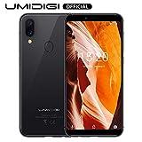 UMIDIGI A3 (2019), Smartphone Pas Cher 4G Ecran 5,5 Pouces Android 8.1, 2 Nano SIM + 1 MicroSD Téléphone Portable Débloqué, Quad-Core MT6739, 2 Go + 16 Go, Batterie 3300mAh - Gris Foncé