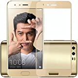 Honor V9, Premium Perfect Fit Azzil (Gold) Full Glass 2.5D Curved 9H Anti-Fingerprints & Oil Stains Coating Hardness Screen Protector Guard For Huawei Honor V9