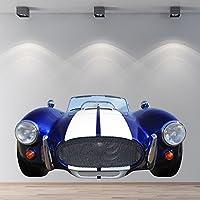 AC Cobra Race Car Wall Sticker Blue Sport Adesivo Ragazzi Camera Home Decor disponibile in 8 taglie Piccolo