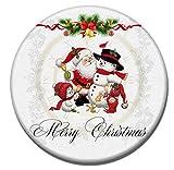 Gnzoe Kieselgur Teppiche Santa Claus Schneemann Muster Design Teppiche für Wohnzimmer Küche Flur Schlafzimmer Weiß 10x60CM