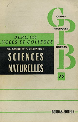 Sciences naturelles en 3e BEPC des lycées et collèges / Désiré, CH/ Villeneuve, F/ Réf27194