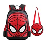 Best Spider-Man Book Bags For Boys - SUNBABY Boys' Backpack Spiderman Fans Gift Waterproof Comic Review