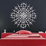 Toile D'Araignée Stickers Muraux Décoratifs Pour Chambre Art Halloween Décor Imperméable Vinyle Stickers Salon Home Sticker 56 * 56Cm