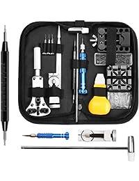 ELECTRAPICK 112 Pièces Kit d'outil de Réparation de Montre en Métal pour Ajuster Bracelet et Changer Piles