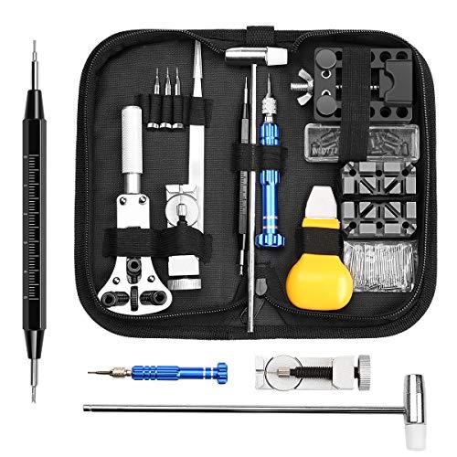 Electrolux Reparatur-Set für Uhren, 112 Teile, Reparatur-Werkzeuge, Metall, zum Anpassen von Armband und zum Austausch von Batterien - Electrolux Set