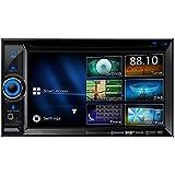 Clarion NX505E DAB 2 DIN Navigation mit Einbauset und DAB Antenne für Toyota Auris (E15J/E15UT) 2007-2012 schwarz