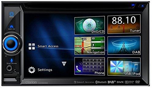 Clarion NX505E DAB 2 DIN Navigation mit Einbauset und DAB Antenne für Honda CR-V (RE5/RE6/RE7) 2006-2012 (Honda Crv Antenne)