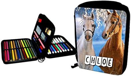 Trousse garnie chevaux personnalisée personnalisée personnalisée avec prénom au choix B071X437Q5 f6f9d2