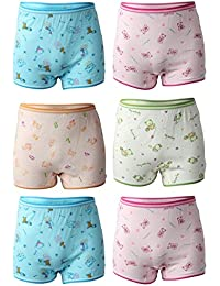 BODYCARE Girl's Printed Cotton Bloomers for, 3-4 Years (6376ABCDAB-60, Multicolour) - Pack of 6