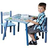 Kesper 17721 Dino Table d'Enfant avec 2 Chaises Bois Multicolore 30 x 30 x 15 cm