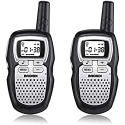 Brondi FX-COMPACT SPORT+ 8canales 446 - 446.1MHz Negro, Plata two-way radios - Walkie-Talkie (Professional mobile radio (PMR), 8 canales, 446 - 446.1, 5000 m, AAA, Alcalino)