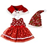 Snow Island Doll Christmas Clothes Set for 18 Inch Doll Fashion Decoration Princess Dress Hat Shawl for Girls Doll Accessories