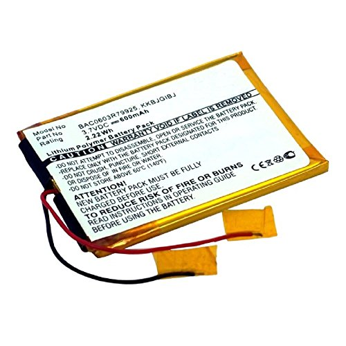 subtel® Qualitäts Akku kompatibel mit Creative Zen - (400mAh) Ersatzakku Batterie Zen Multimedia-player