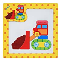 HUHU833 Wooden Magnetic Puzzle Educational Developmental Baby Training Toys for Kids Develop Intelligence Decor Gift