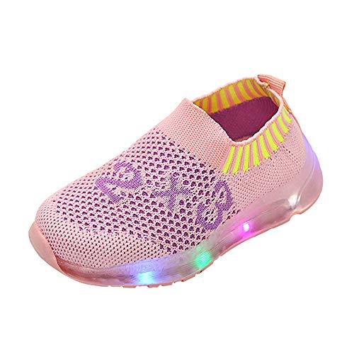 Linlink Baby Mädchen und Jungen Kleinkind Mode Stern Leuchtendes Kind Bunte Helle Schuhe Kinder Schuhe mit Licht LED Leuchtende Blinkende Turnschuhe für Kinder 20 EU-29 EU